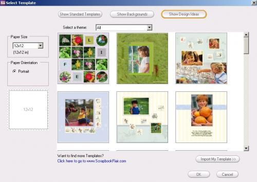 Примеры готовых тем в программе Scrapbook Flair