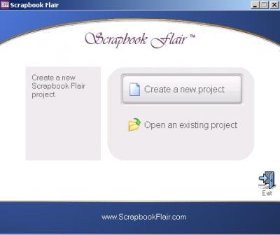 Создание нового проекта в программе Scrapbook Flair
